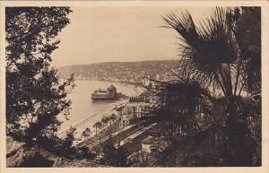 France Nice Vue panoramique prise de la Cascade du Chateau 1937