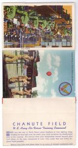 Military Chanute Air Force Base Postcard Large Letter Folder