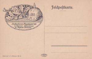 Regiment 180 German WW1 Army Armeekorps Antique Military Postcard
