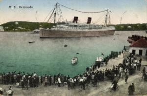 bermuda, Steamer M.S. Bermuda in the Harbour (1930)
