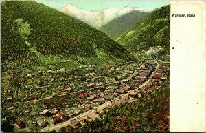 Vtg Postcard 1910s Warner Idaho ID Birds Eye View Unused UNP