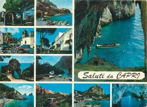 Europe Italy Postcard Capri island multi view
