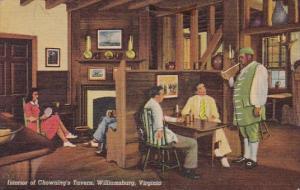 Interior Of Chowning's Tavern Williamsburg Virginia