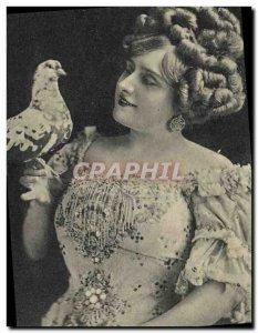 Theater Postcard Old Woman Miss Katie Pigeon Loisset