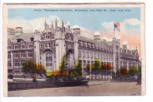 Union Theological Seminary, Broadway and 120th St, New York City, Haberman