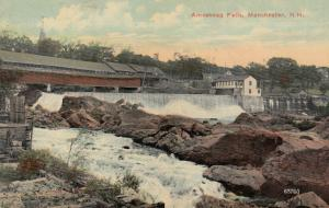 MANCHESTER , New Hampshire, PU-1912 ; Amoskeag Falls