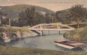 New Hampshire North Woodstock Bridge And Lake On Grounds At Mountain Park Hou...