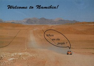 Namibia South African Ghost Town Desert is Deserted Comic Postcard