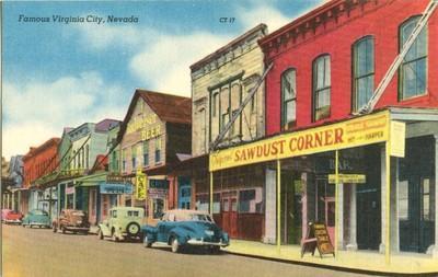 Famous Virginia City, Nevada 1940s unused Postcard