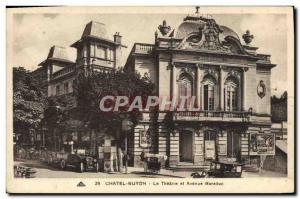 Old Postcard Chatel-Guyon Avenue Theater and Baraduc