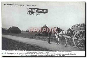 Old Postcard Jet Aviation Farman makes the Chalons camp Reims Sillery Territo...