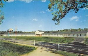 Freeport ME Eagle Motel Route 1 Spring Water Postcard