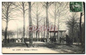 Postcard Old Lyon Bellecour Musique