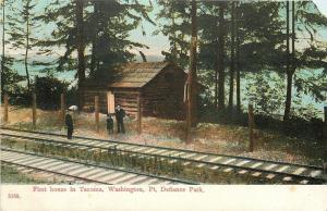 Tacoma Washington~First House in Tacoma~Pt. Defiance Park~Railroad Tracks~1910