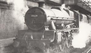 45624 Train At Euston Station in 1959 Vintage Railway Photo