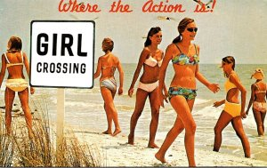 Florid Fort Lauderdale Girl Crossing Where The Action Is