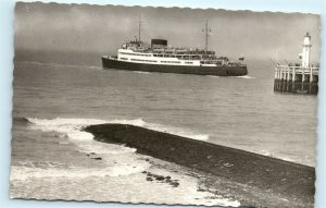 Ostende Ostende M/S Roi Albert Oostende-Dover Ship Vintage Photo Postcard E06