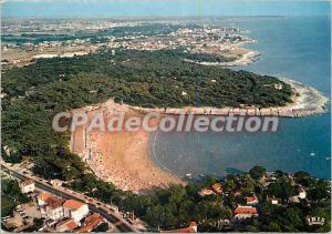 Postcard Modern Cote de Beaute The Beach Nauzan from the sky