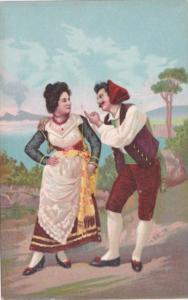 Italy Romantic Couple Italian Couple Dancing In Traditional Costume