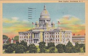 Rhode Island Providence State Capitol 1945