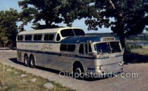 Greyhound Scenicruiser, USA Bus Buses, Old Vintage Antique Post Card Postcard...