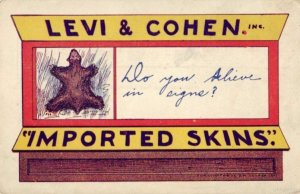 LEVI & COHEN IMPORTED SKINS ADVERTISING