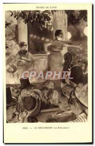 Old Postcard Museum of Lyon Degas Cafe Concert Ambassadors