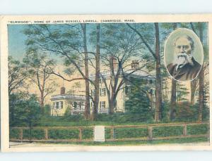 Unused W-Border HISTORIC HOME Cambridge - Boston Massachusetts MA d1012