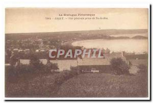 Erquy Old Postcard General view taken from You're Roc
