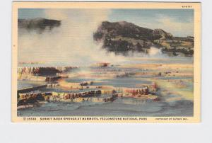 VINTAGE POSTCARD NATIONAL STATE PARK YELLOWSTONE SUMMIT BASIN SPRINGS AT MAMMOTH