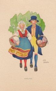 Couple , SMALAND , Sweden , 1930-50s : Aina Stenberg