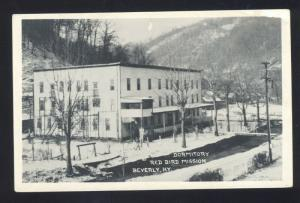 RPPC BEVERLY KENTUCKY RED BIRD MISSION DORMITORY VINTAGE REAL PHOTO POSTCARD