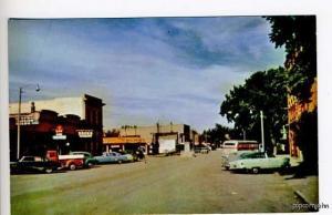 Benton MT Drug Store Street Vue Cars Postcard