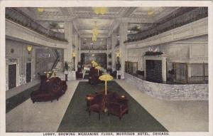 Illinois Chicago Lobby Showing Mezzanine Floor Morrison Hotel