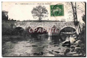 Old Postcard Crozant (Creuse) Devil's Bridge