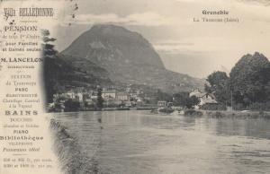 GRENOBLE, LA TRONCHE(ISERE) , France , 1908; ADV; Villa Belledonne