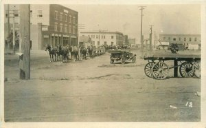 c1910 Corcoran Kings California Street View Horse Freight Team RPPC Postcard