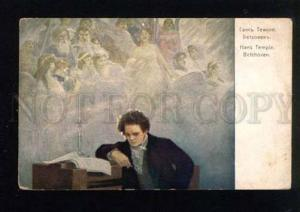 043803 BEETHOVEN German COMPOSER & ANGELS By TEMPLE vintage PC