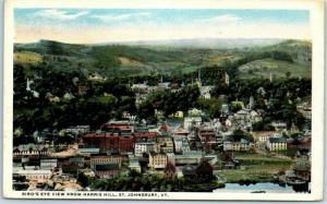 St. Johnsbury, Vermont Postcard Bird's-Eye View from Harris Hill 1917 Cancel