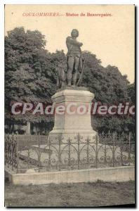 Postcard Old Coulsdon Statue Beaurepaire