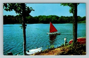 Connersville IN- Indiana, White Water Mem State Park, Lakeside, Chrome Postcard