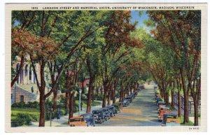 Madison, Wisconsin, Langdon Street and Memorial Union, University of Wisconsin