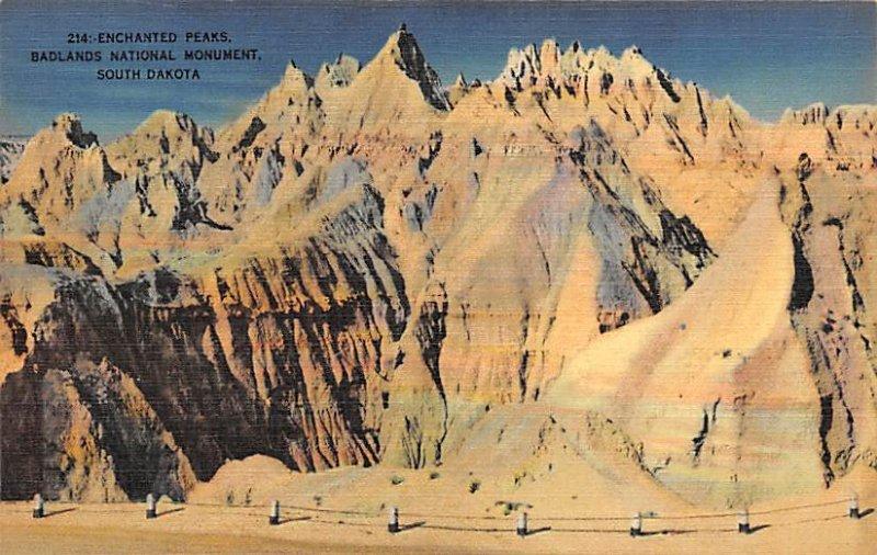 Enchanted Peaks Bad Lands National Monumennt Badlands SD