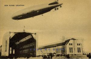 1936 Zeppelin Collotype Postcard: LZ-129 Hindenburg, DZR Description on Back