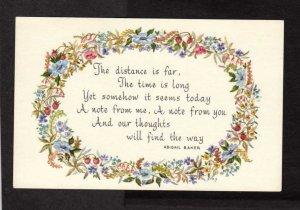 We Poem Abigail Baker Postcard Vintage