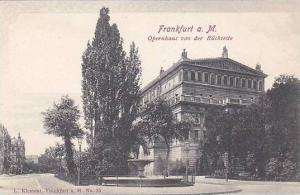Frankfurt a. M., Opernhaus von der Ruckseite,  Hesse, Germany, 00-10s