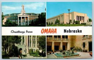 Postcard NE Multiview Greetings From Omaha Nebraska Vintage #2 P1