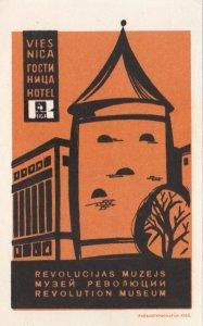 Russia Riga Revolution Museum Vintage Luggage Label sk1491