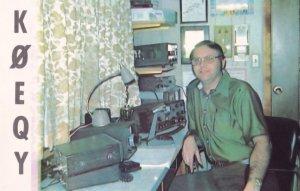 Hillsboro Kansas QSL Amateur Radio Postcard Vintage Card