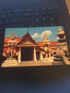 Vintage Postcard: Guards Guarding the entrance Wat Phra Keo,Bangkok Thailand